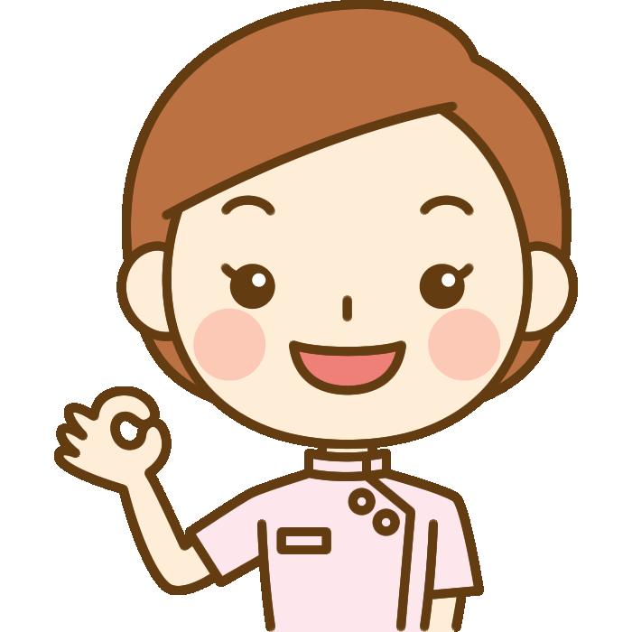OKポーズをする整体師のイラスト