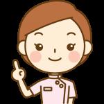 指差しポーズをする整体師(鍼灸師)のイラスト