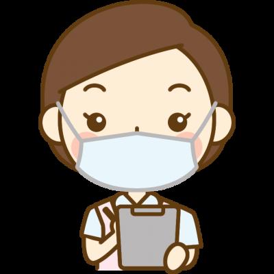 問診をする歯科衛生士のイラスト