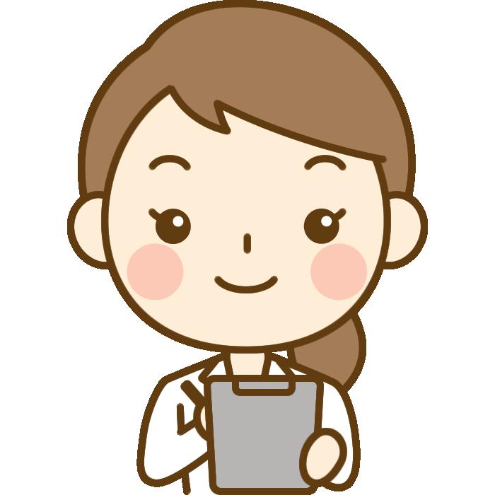 問診をする女性医師(医者)のイラスト