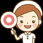 マル印を出す看護師(ナース)のイラスト<白の白衣>
