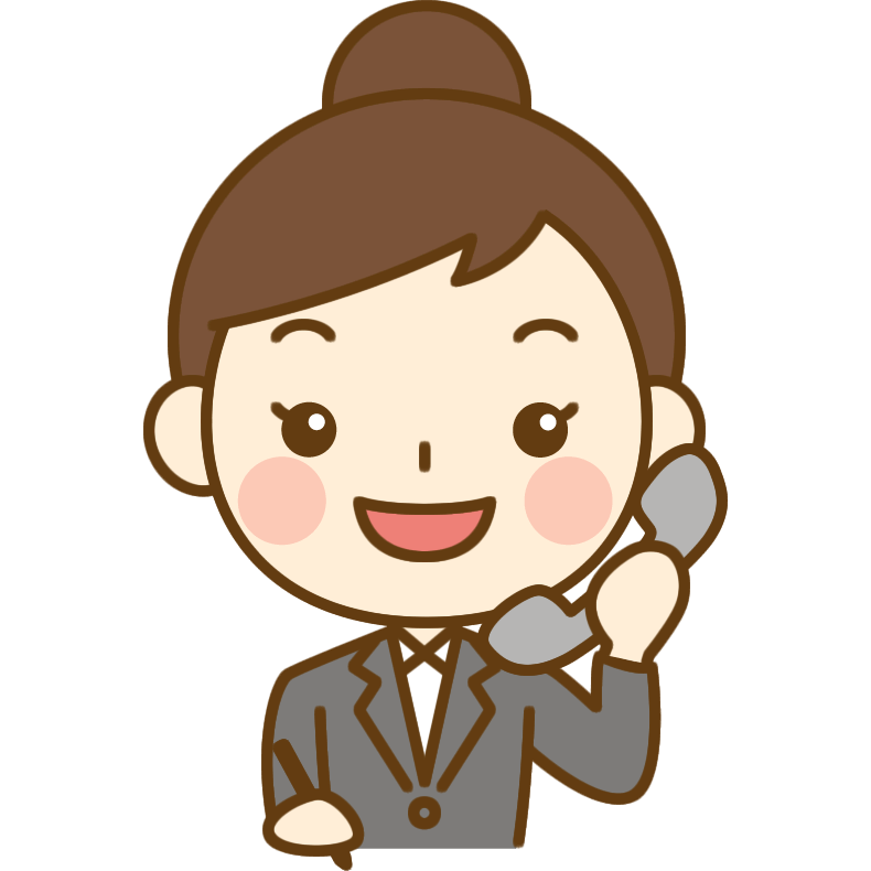 電話をするOL(会社員)のイラスト