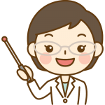 指し棒で説明する薬剤師のイラスト