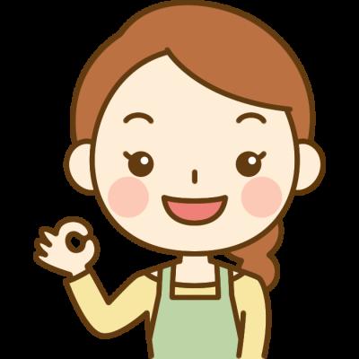 OKポーズをする主婦のイラスト