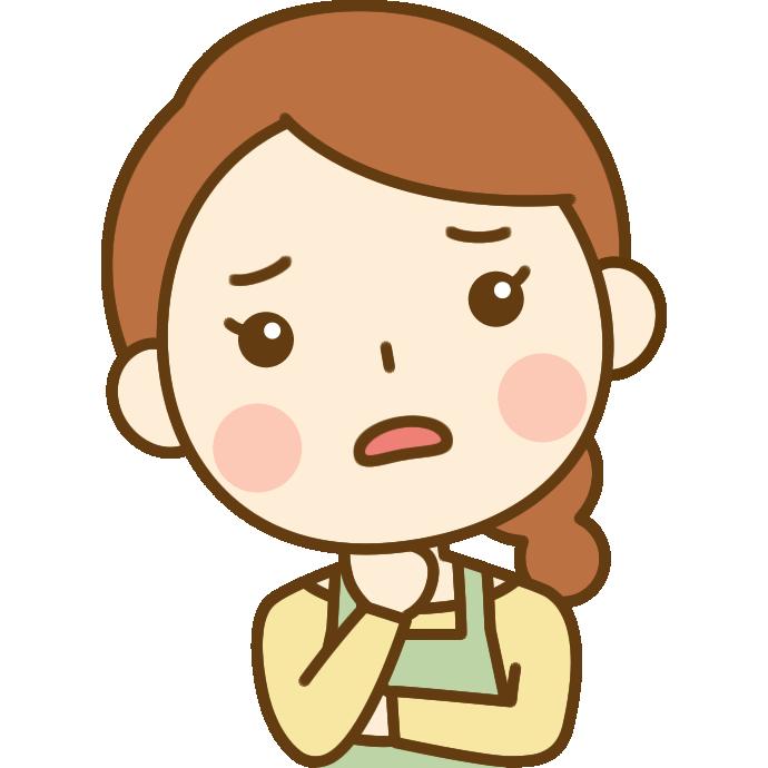 心配する主婦のイラスト