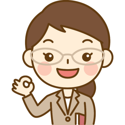 OKポーズをする先生(教師)のイラスト