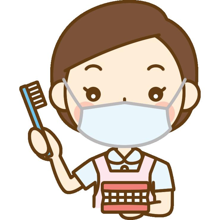歯磨き指導をする歯科衛生士のイラスト