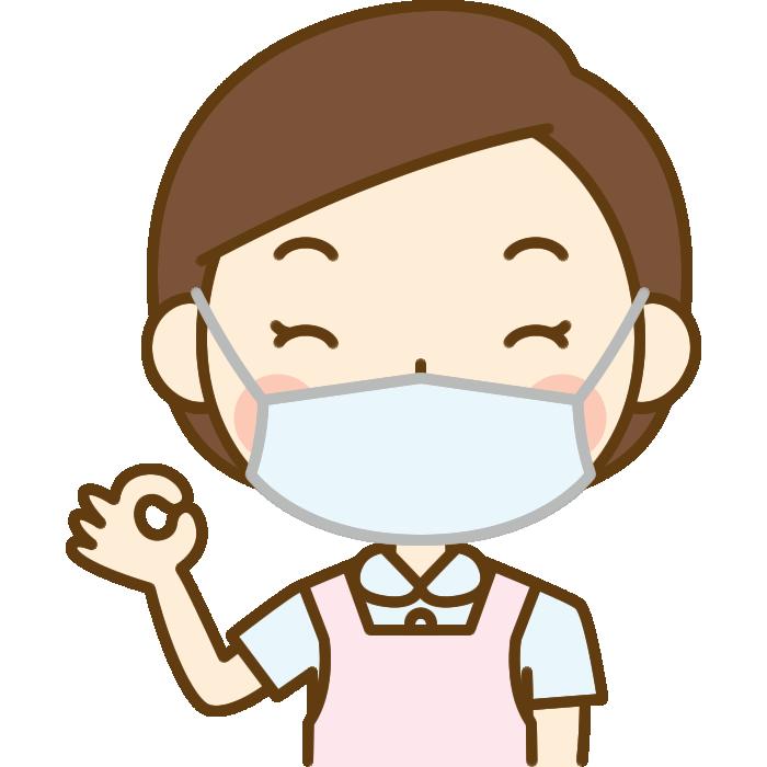 OKポーズをする歯科衛生士のイラスト