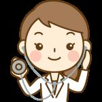 聴診器を持った女性医師(医者)のイラスト