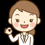 OKサイン(オッケーポーズ)をする女性医師(女医・医者)のイラスト