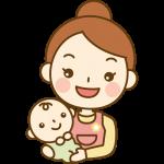 赤ちゃんを抱っこする保育士(ベビーシッター)のイラスト