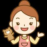 人形劇をする保育士のイラスト