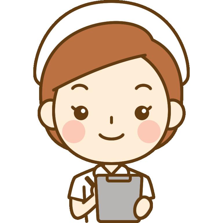 問診をする看護師(ナース)のイラスト<白の白衣>