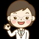OKポーズをする薬剤師のイラスト