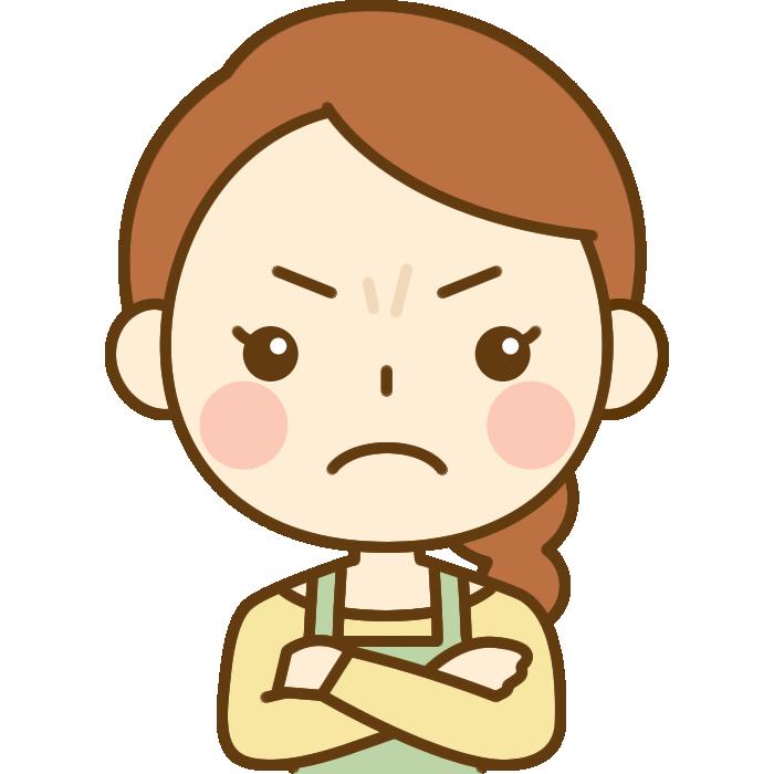 怒っている主婦のイラスト
